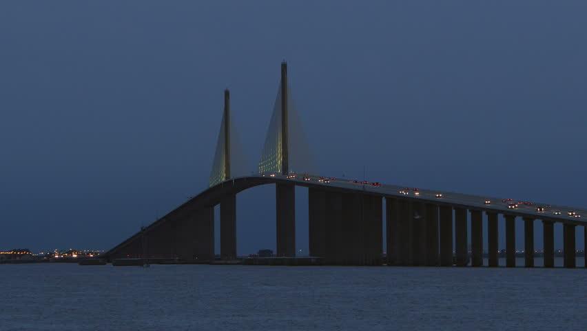 View of skyway bridge stock footage video 1683634 for Skyway bridge fishing pier
