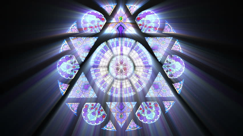 Stained Glass with Star of David (Seamless Loop)