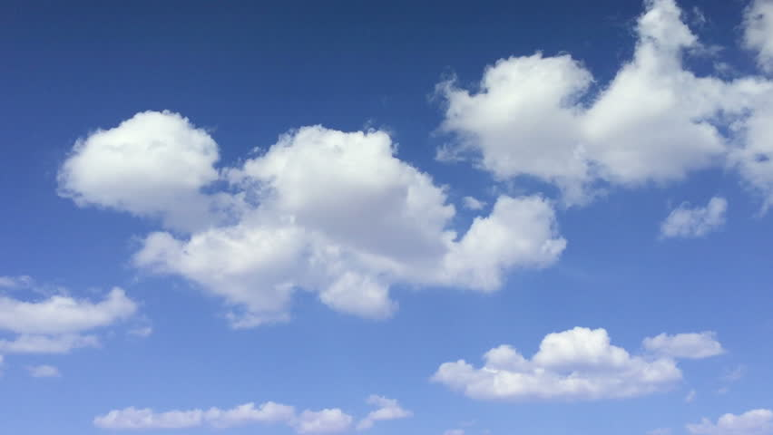Blue sky with oxygen cloud closeup Time lapse clouds rolling puffy cloud are moving white cotton clouds time lapse HD sunny clouds Cloud running across the blue sky Time lapse of white clouds sky air #10027469