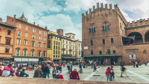 BOLOGNA, ITALY - MAY 2015: St Peter's Church at Major Square, Bologna, Italy. Is the main church of Bologna.