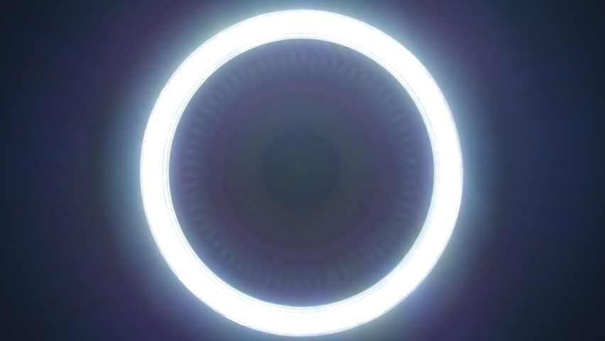 Circle led lights with different versions of the glow on black background
