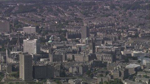 AERIAL United Kingdom-Aberdeen 2005: Aberdeen city centre