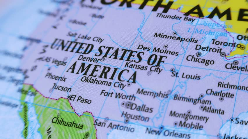 United States Map Stock Footage Video Shutterstock - 4k us map
