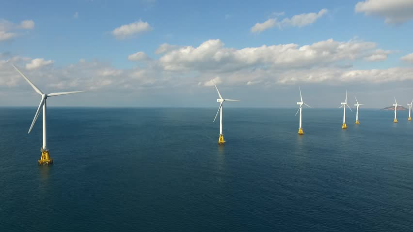 Offshore wind turbines, Jeju island, South Korea