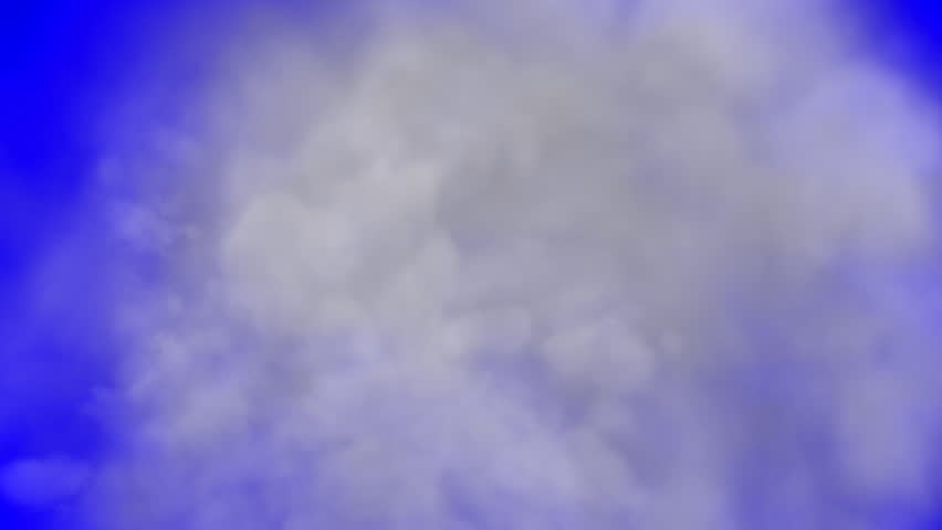 Smoke ejection on blue (green) screen. Smoke billow. For special effects and motion graphics.
