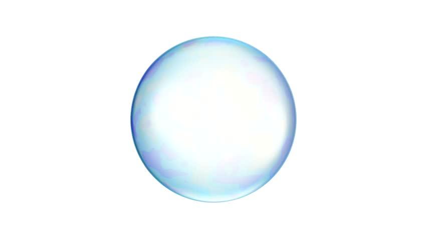 3d soap transparent bubble in the deformation. 3d rendering 4K
