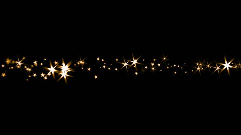 Sparkling Stars - Trail Transition - Golden Light Rays - 4K - 4 colorful dazzling particle trails for holiday intro, revealer, transition, background, overlay. Blend as Add, Screen, Lighten for the bl