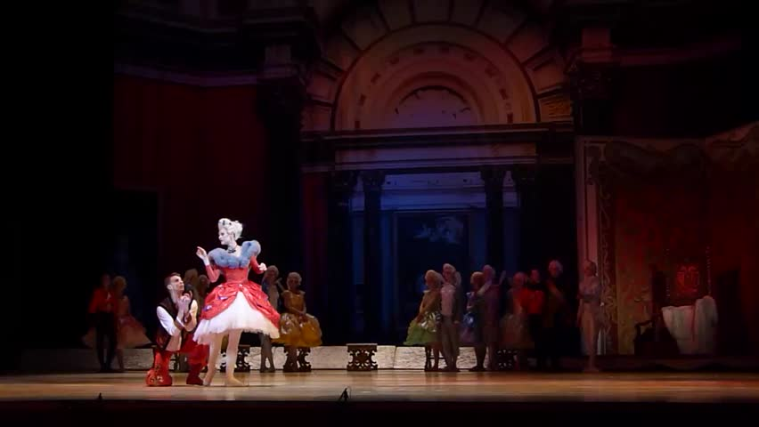 DNiPRO, UKRAINE - JANUARY 7, 2018: Night before Christmas ballet  performed by Dnipro  Opera and Ballet Theatre ballet.