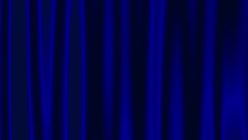 Blue colored abstract closed curtain motion background.