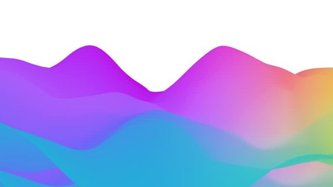 Abstract Wave Background Colorful Terrain