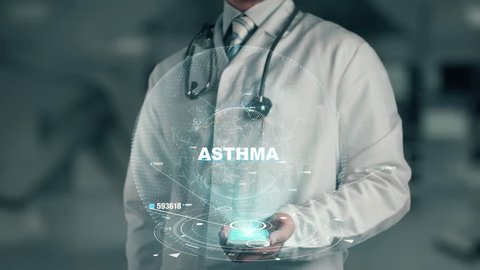 Doctor holding in hand Asthma