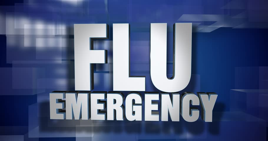 A blue dynamic 3D Flu Emergency transition and title page animation. 5 and 2 second options included with optional luma matte for both.  | Shutterstock HD Video #1007162239