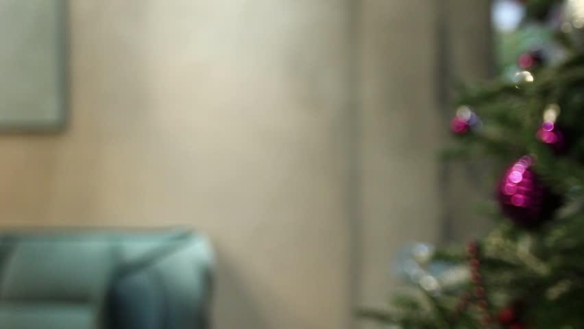 Unfocused view of Christmas tree | Shutterstock HD Video #1007179759