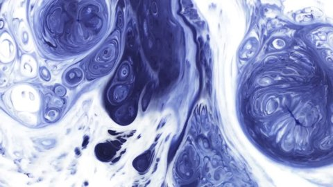 Abstract Colorful Paint Ink Explode Diffusion Psychedelic Blast Movement. soft colors, abstract composition. Acrylic texture with blue marbling background