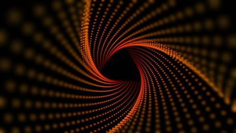 Geometric Triangle Tunnel Abstract Motion Black Background Animated Computer Design Abstract Background