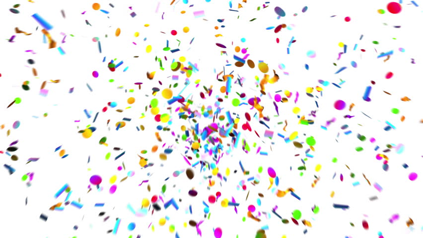 Confetti Party Popper Explosions on a Green Background. 3d animation, 4K.  | Shutterstock HD Video #1007395909