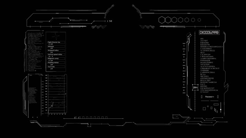 """PNG alpha.HUD digital elements.Viewfinder target.Technological template.As HUD infographic material texture for 3D models animation.""""Iron Man""""elements."""