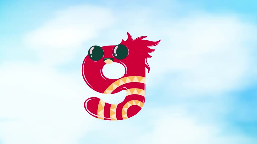Cute Numbers Animated Video Clip.   Shutterstock HD Video #1007520502