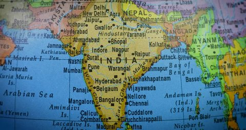 Topographic Map Of India Stock Video Footage 4k And Hd Video Clips