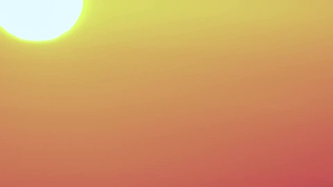 A time lapse of the large orange sunset as the massive sun sets into the horizon above, Vivid clouds moving rapidly to the west. Wonderful natural background. Dramatic and gorgeous evening scene. 4K.