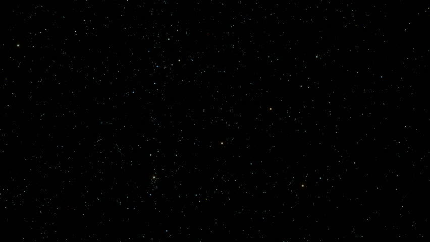 Night Sky 006: A star field twinkles in a night sky (Loop).