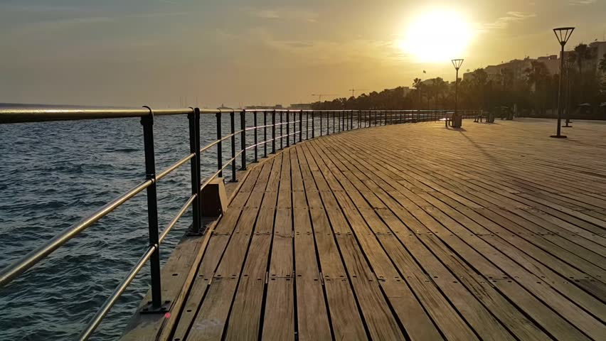 Sunset in Cyprus at Limassol Marina 2018