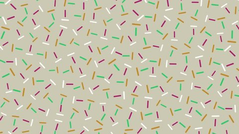 Retro Pop-Art 80's Memphis style pattern animation. Red, green and white lines on light background. Stop-frame video loop-ready clip.