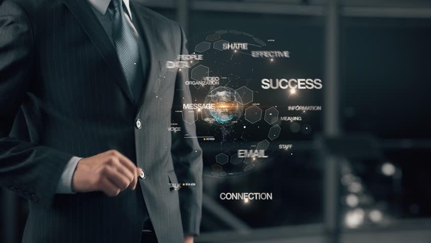 Businessman with Communication   Shutterstock HD Video #1007737759