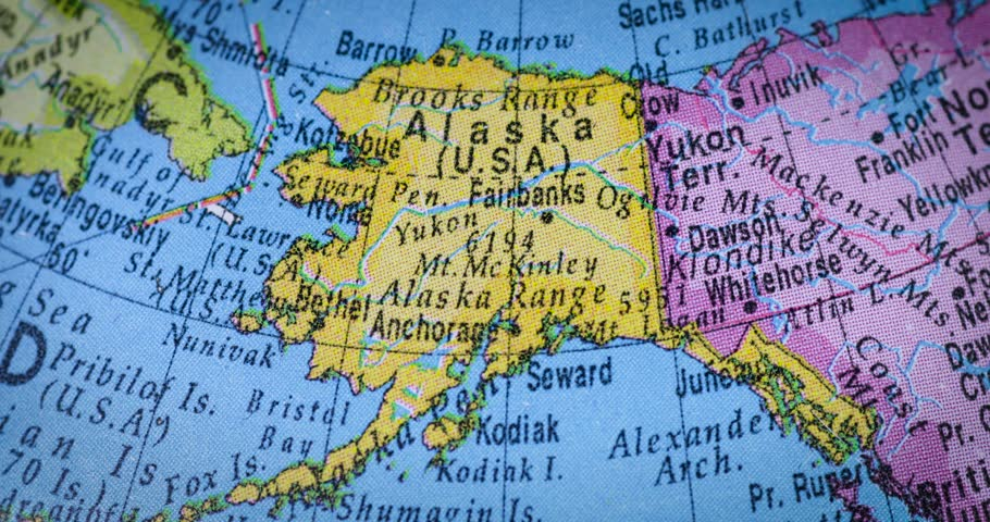Stock video of jakarta indonesia february 20 2018 1007818336 4k0010jakarta indonesia february 20 2018 closeup of a globe with alaska region map alaska is a us state located in the northwest extremity of north publicscrutiny Choice Image