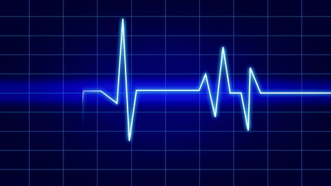4k Heart beat cardiogram,heart monitor EKG electrocardiogram pulse. cg_04046_4k
