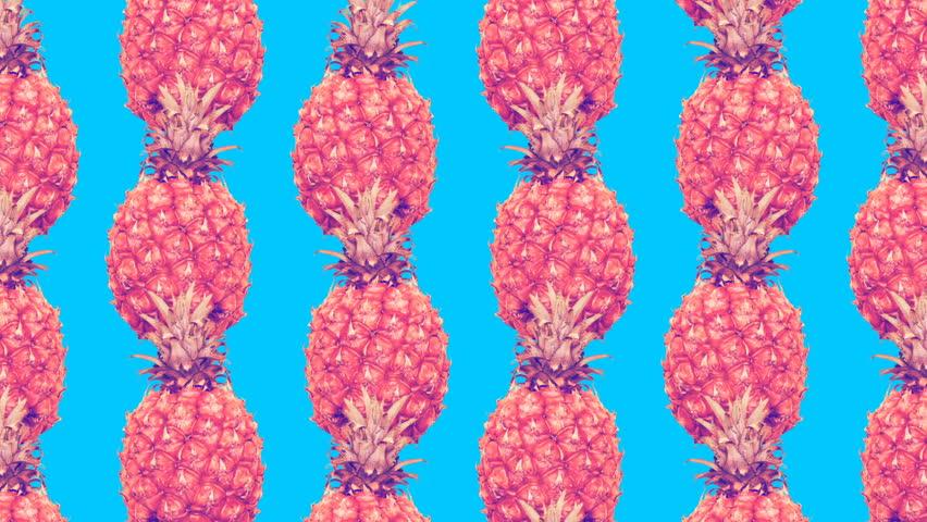 Minimal Motion art. Pineapple background