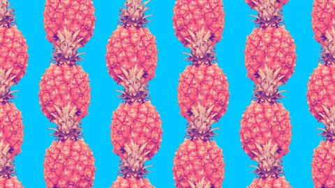Minimal Motion art. Pineapple background