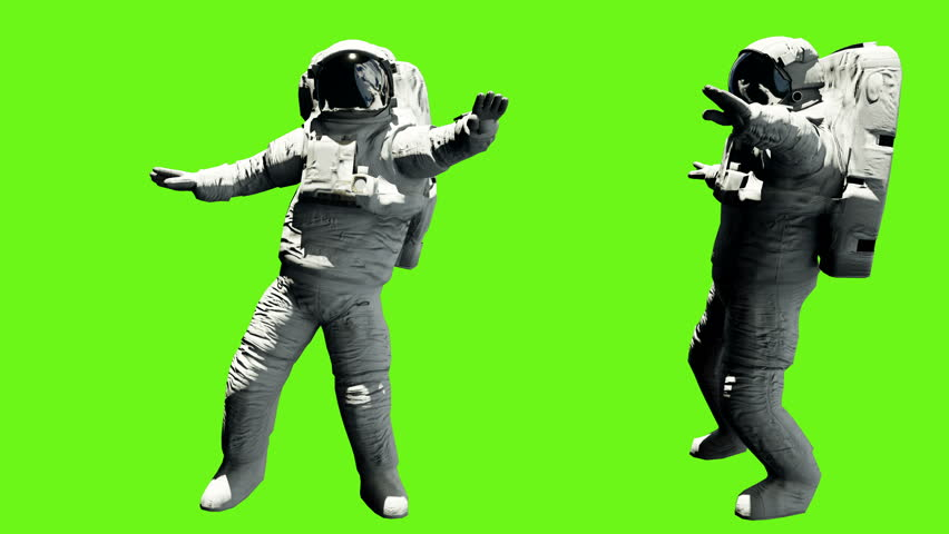 Astronaut dancing hip hop. Loopable animation on green screen. 4k. #1007946319