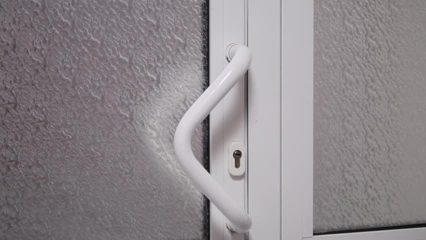 Man Open The Door. close up