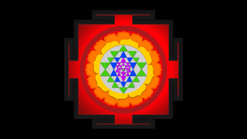 Sri Yantra Mantra Loop Indian Stock Footage Video (100% Royalty-free)  1008048439 | Shutterstock