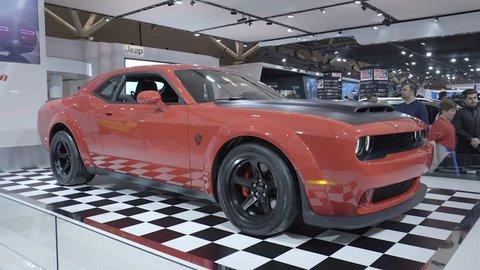 Dodge Challenger Srt Demon Stock Video Footage 4k And Hd Video