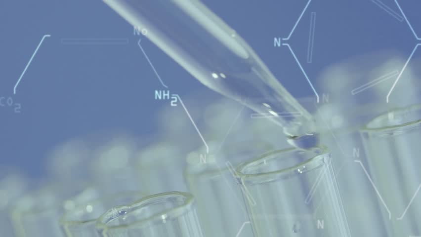 Close up of laboratory scientist working with a pipette analyzes and extract the DNA or molecules in the test tubes.on blue background with virtual interface   Shutterstock HD Video #1008152809