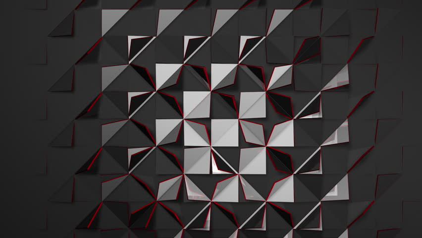 Customizable 3D triangle tile transition. Create sleek transitions right in your editing app with no plugins or additional software. Includes mattes for front, back, sides, shading and shadows.