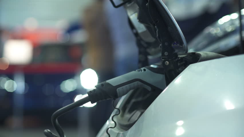 Charging the battery of an electric car | Shutterstock HD Video #1008262999