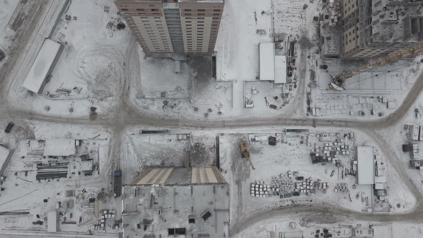 Aerial view of construction and development site #1008270379