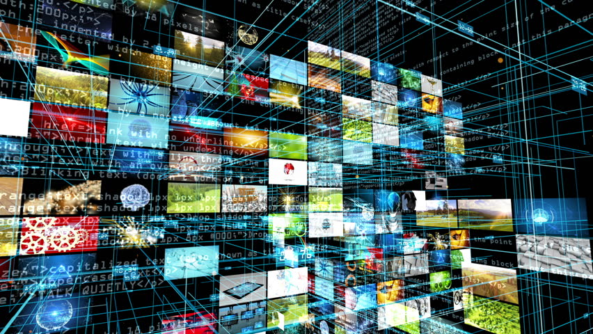 Abstract data, computer and technology theme. Computer screen interface display. 3D rendering. | Shutterstock HD Video #1008398419