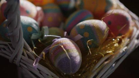 Ornaments for Easter. Decorative handmade easter eggs