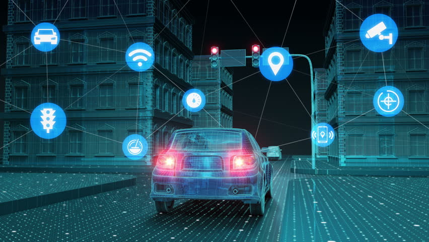 IoT car connect traffic information control system, select application, Internet of things. 4k size | Shutterstock HD Video #1008503659