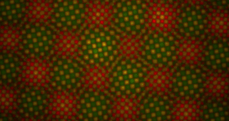 4K geometric pattern in red, green and yellow rotating on black background seamless loop  | Shutterstock HD Video #1008511039