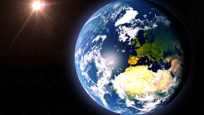 France Map With Borders, View From Space, Earth Globe