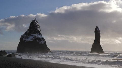 Iceland Black Sand Beach Reveal Basalt Rock Formations Trolls Toes 4