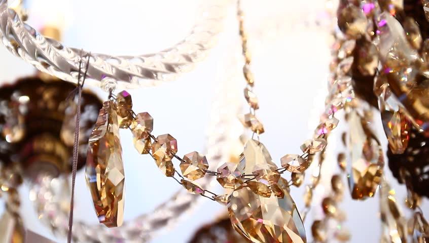 Elegant crystal chandelier | Shutterstock HD Video #1008568429