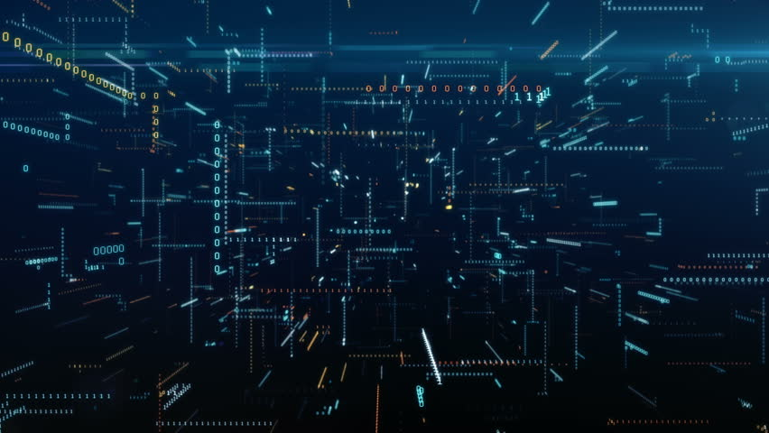 Infinite flight among binary code in a chaotic technological space | Shutterstock HD Video #1008581509