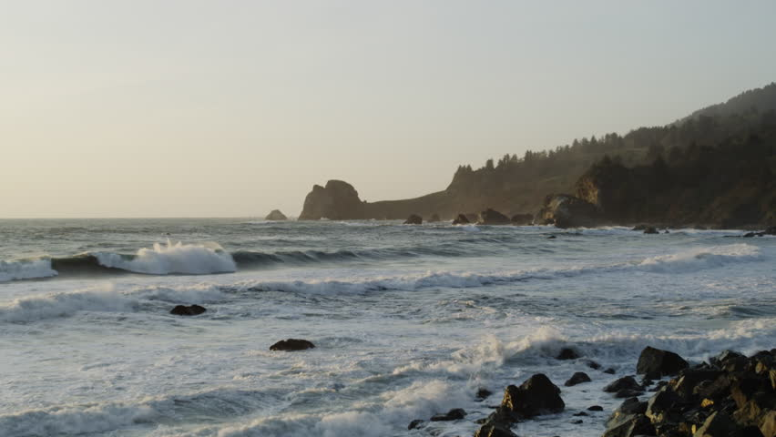 The Pacific Ocean South of Crescent City in the early morning light