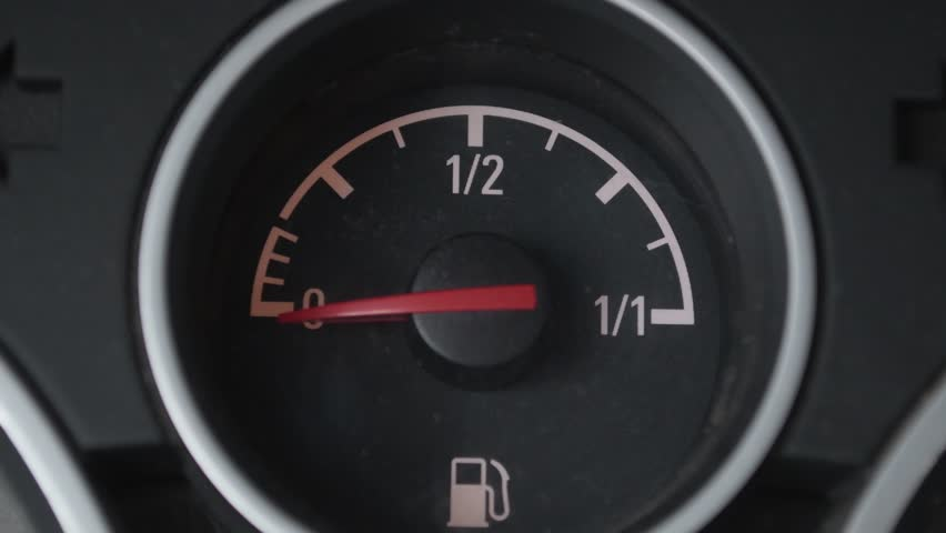 Fuel gauge. Needle moving | Shutterstock HD Video #1008709699